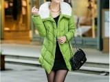 厂家批发采购款 韩版时尚羽绒服 修身长款棉衣棉服 保暖时尚