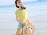2015夏季新款波西米亚连衣裙海边度假沙滩裙雪纺长裙女印花裙子夏