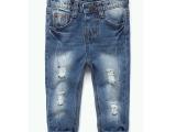 外贸原单 男女童破洞牛仔长裤 出口西班牙余单正品 婴幼小童长裤