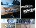 实体工厂 灯箱招牌门头 发光字 雕刻 喷绘 LED