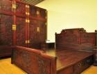 苏州回收红木家具大红酸枝二手红木沙发雕花衣柜卧室家具收购