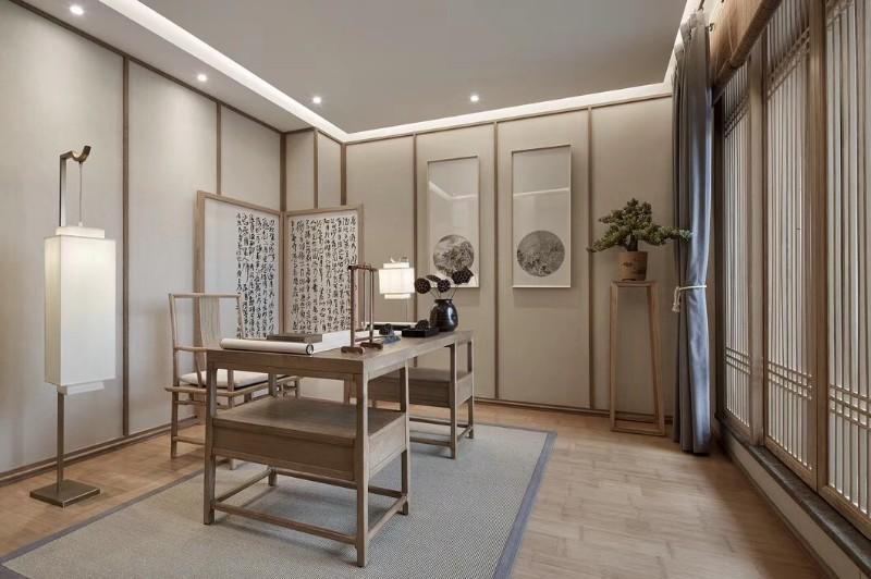 唐山铂锐山136 新中式三居装修案例