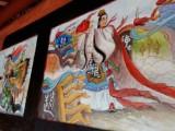珠海农家乐墙体彩绘 房地产集团专业墙绘壁画