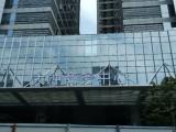 南山大冲中科大厦广告字LOGO前台字玻璃贴膜喷绘海报上门服务