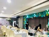 沙龍會議,招商會議 鮮花、氣球、桁架背景設計
