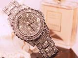 满钻手表女韩国时尚时装表,中性大表盘手表 女士手表 夜店手表