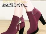 新款时尚性感冬季高跟鞋马丁靴女防水台女靴