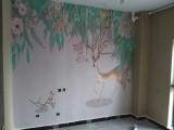 贴墙纸壁画师傅 贴玻璃纸墙纸 壁画 墙布
