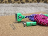厂家直销三星发光编织面条线 note3编织线 盖世发光编织线