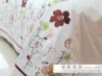 外贸斜纹纯棉贴布绣花双人床单睡单批发床上用品家纺230*250