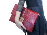 手拿包2014新款女手包欧美潮信封包单肩斜挎鳄鱼纹晚宴包小包包