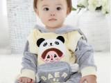 童装儿童男女童春秋装2013新款宝宝婴幼儿批发天鹅绒套装双面穿潮