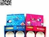 儿童卡通碗套装两碗套装蓝色,红色儿童餐具用品,欢迎定购!