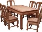 雍王府红木 龙腾西餐桌 7件套 缅甸花梨木 厂家直销