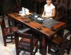 中山老船木家具各种茶桌创意流水功夫茶台全国发货