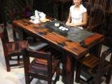 老船木茶台老船木茶桌价格老船木茶几批发老船木家具定制
