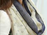 13年韩国秋冬新款女士韩版海军风船棉麻加长女士 大披肩 围巾10