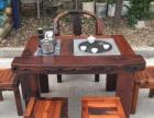 鄂尔多斯市老船木家具茶台餐桌椅子实木茶桌子沙发茶几办公桌柜子