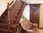 上海品家楼梯高端别墅实木楼梯木质楼梯雕花立柱木踏板