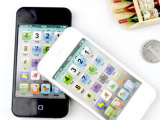 0621A英文超多种功能学习机 触摸点读机语音手机Iphone4