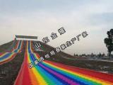 七彩游乐滑梯 大型户外网红游乐设备 竞速滑梯设备