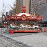 郑州智宝乐游乐设备厂家供应新款豪华转马 旋转转马 造型新颖