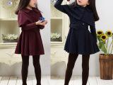 童装2015秋装新款韩版女童7岁8岁风衣外套加披肩两件套