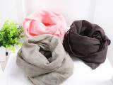 一件代发   2015秋冬新款  韩版纯色舒适棉麻儿童围巾  围