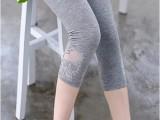 2014春夏装孕妇装长裤骷髅头七分孕妇打底裤孕妇托腹裤莫代尔裤