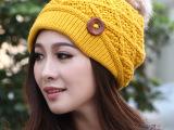 冬季帽子 女 冬天韩版潮针织帽韩国秋冬帽加厚保暖帽女士毛线帽