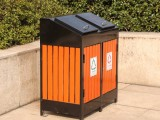 昆明鋼木垃圾桶定做 參數 批發
