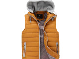 厂家直销 2014新款男士韩版休闲棉马甲男式外套 批发分销一件代