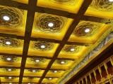 泉州市古建寺廟吊頂浮雕彩繪貼金鋁合金天花吊頂