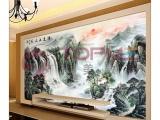 广州厂家直供拓美客厅背景墙玻璃背景墙UV平板彩绘机