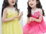 韩版童装 热销2014夏装女童蕾丝雪纺公主连衣裙背心裙