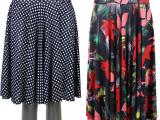 2015新款中老年女装批发夏季中老年冰丝裙太阳裙妈妈装半身跳舞裙