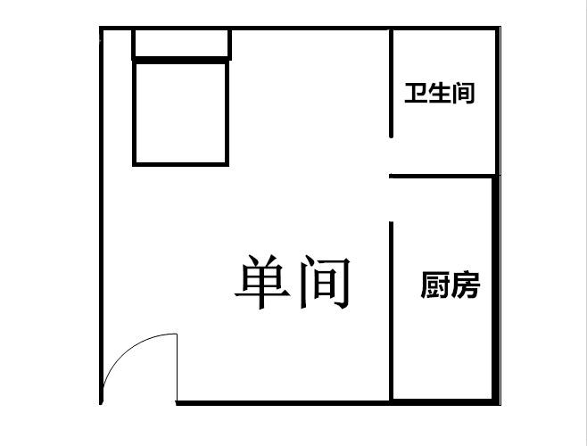 洪浪北地铁公寓一房直租,家私家电齐全大阳台,交通方便免费停车裕安楼
