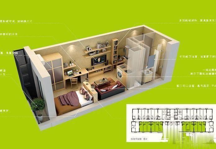 万科金色领域公寓 全新未住 来电即看 配套成熟 北欧风格
