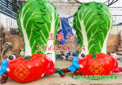 蔬菜水果雕塑专业厂家|山西菜篮子雕塑