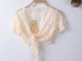 夏韩版女装夏季女外套短薄小坎肩防晒衫蕾丝百搭开衫小披肩