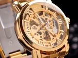 2014外贸爆款自动机械表 高档男款手表 钢带腕表货源厂家批发