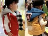 2015韩版儿童宝宝加厚连帽棉衣马甲 秋冬儿童宝宝保暖棉背心