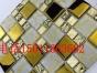 金色 移门马赛克 电镀瓷砖 室内背景墙欧式风格客厅