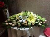 合肥瑶海新站京商商贸城鲜花店开业开张花篮花束发财树招财树