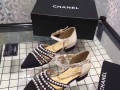 CHANEL香奈儿17新款女士珍珠凉鞋