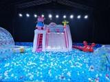 海洋球水池租賃,出租大型滑梯泡沫機,提供戶外游樂設備