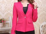 2014爆款职业小西装 v领正装长袖西服套装 时尚西装套裙807
