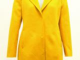 欧美秋冬新款纯手工双面羊绒大衣高端定制羊毛呢中长款女