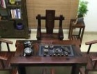 云浮老船木茶桌椅组合批发大班台办公桌厚板龙骨大茶台