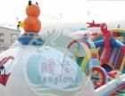 腾龙游乐设备公司直销:充气城堡 充气滑梯 pvc加网加厚材料